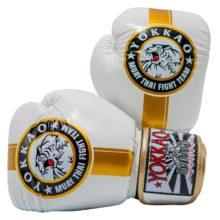 Fight Team fehér-arany boxkesztyű - Limited