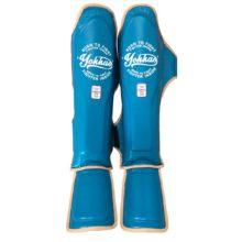 Vintage bőr sípcsontvédő kék - Limited